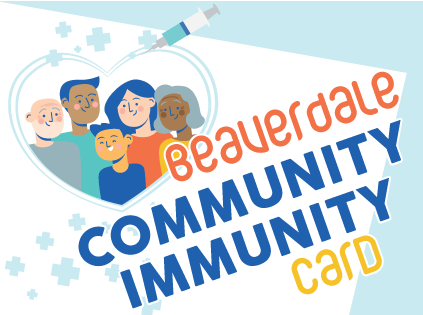 Beaverdale Community Immunity Card graphic