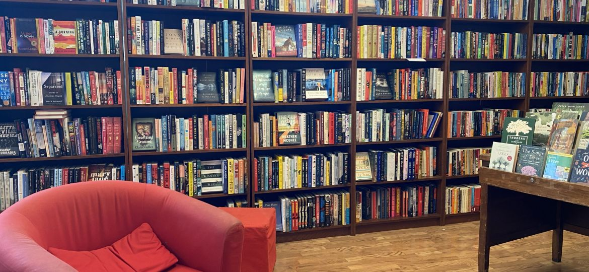 Photo of the interior of Beaverdale Books in Des Moines, Iowa
